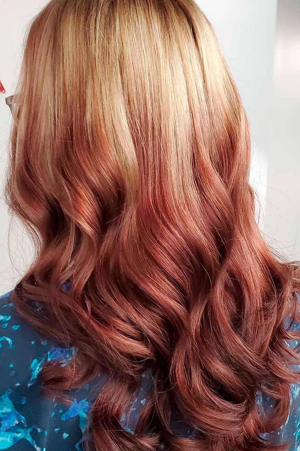 Strawberry Blonde Reverse Ombre, strawberry blonde reverse ombre, reverse ombre blonde to brown, Ombre Hairstyles for Long Hair