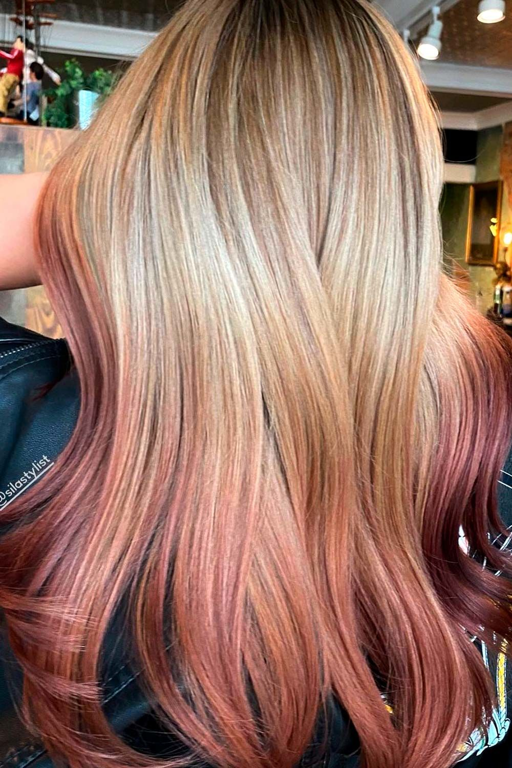 Strawberry Blonde Reverse Ombre, reverse ombre hair blonde to brown, reverse ombre brown hair, reverse ombre blonde to brown