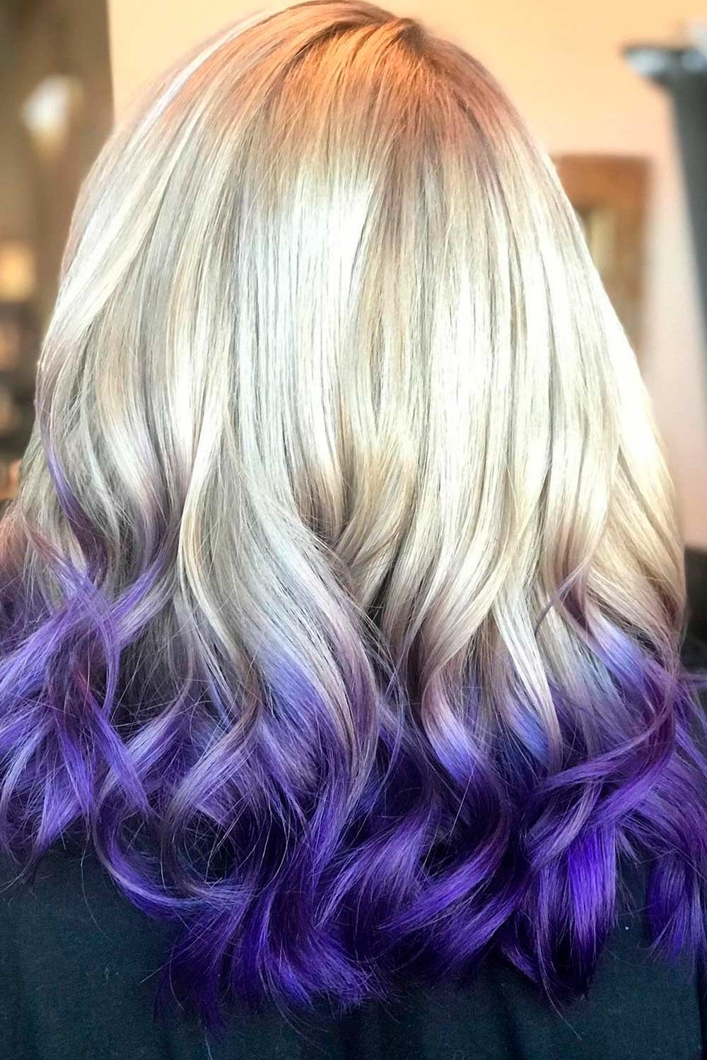 Mermaid Style With Blue And Blonde Reverse Ombre, reverse ombre blonde, reverse ombre hair light to dark