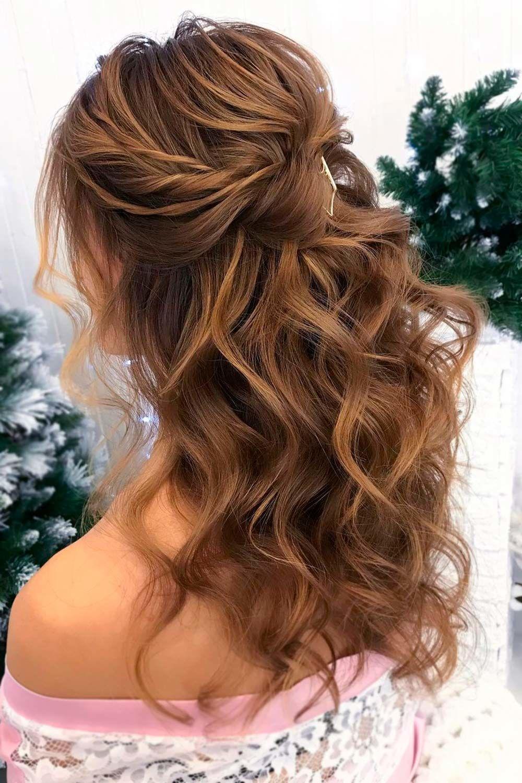 Simple Wavy Hair Half-Up