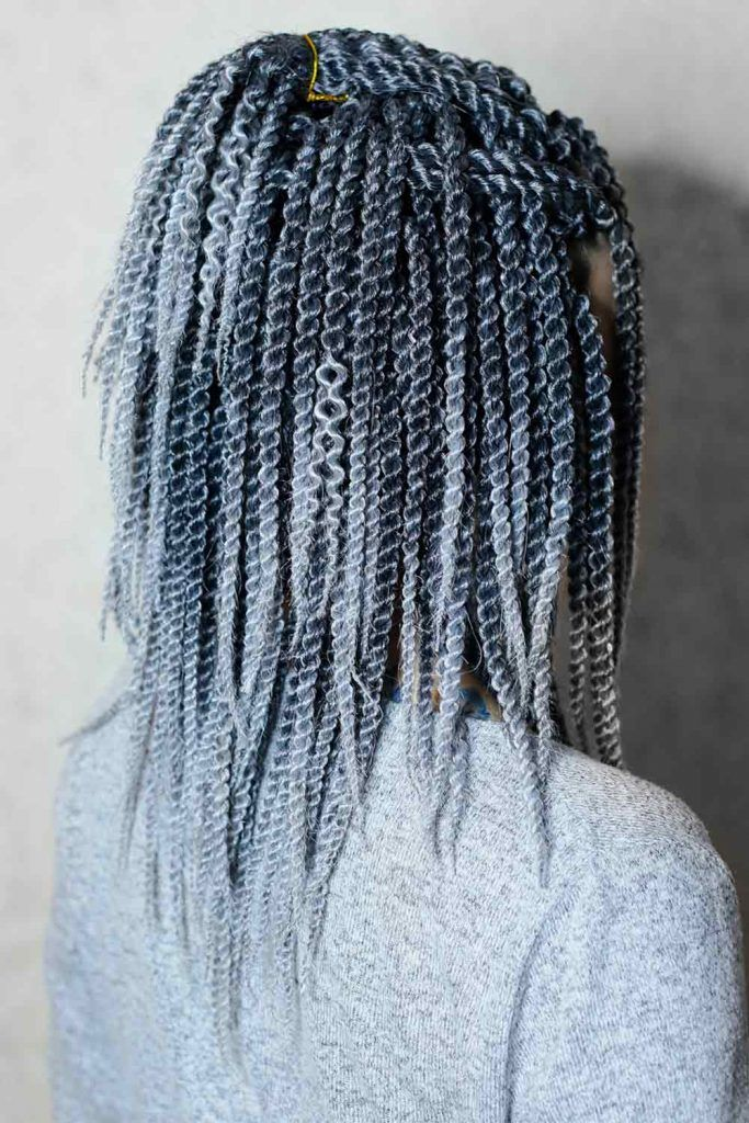 Beaded Twists Into Half-Up, style senegalese twist, senegalese hairstyle, hairstyle for senegalese braids