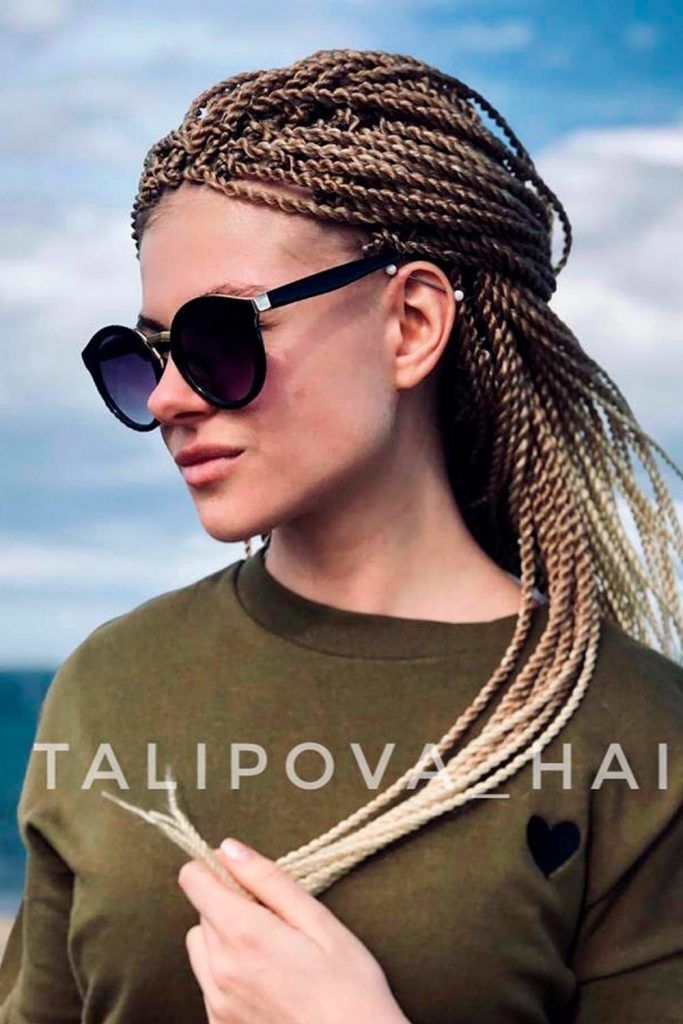 Low Pony, senegalese twist hair, style senegalese twist, senegalese twist hair