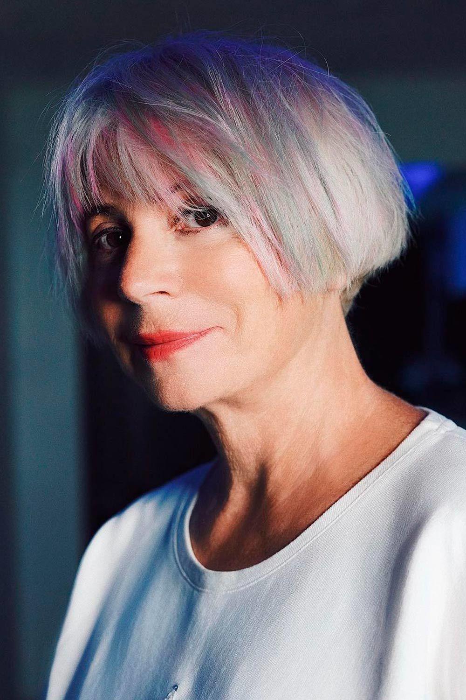 Layered Bob With Bangs, short haircuts 2021 for older women, short bob haircuts for older women, short pixie haircuts for older women