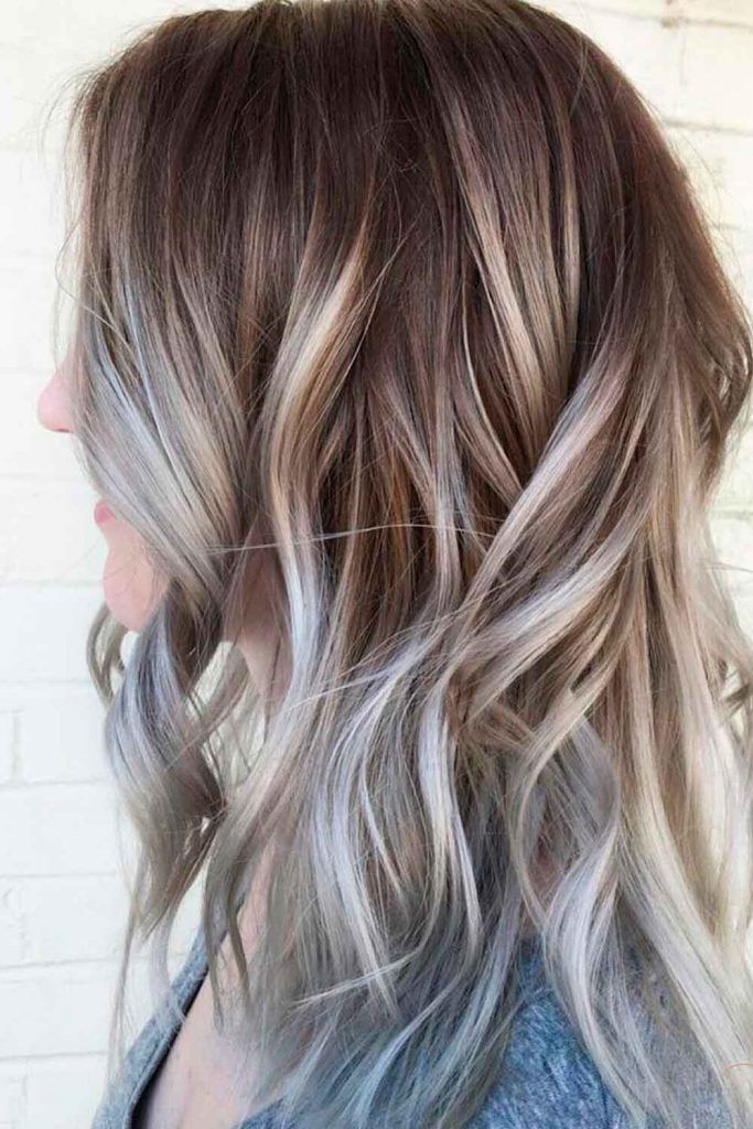 Silver Hair Balayage, silver blonde hair colors, silver brown hair,  silver blonde hair, silver curly hair