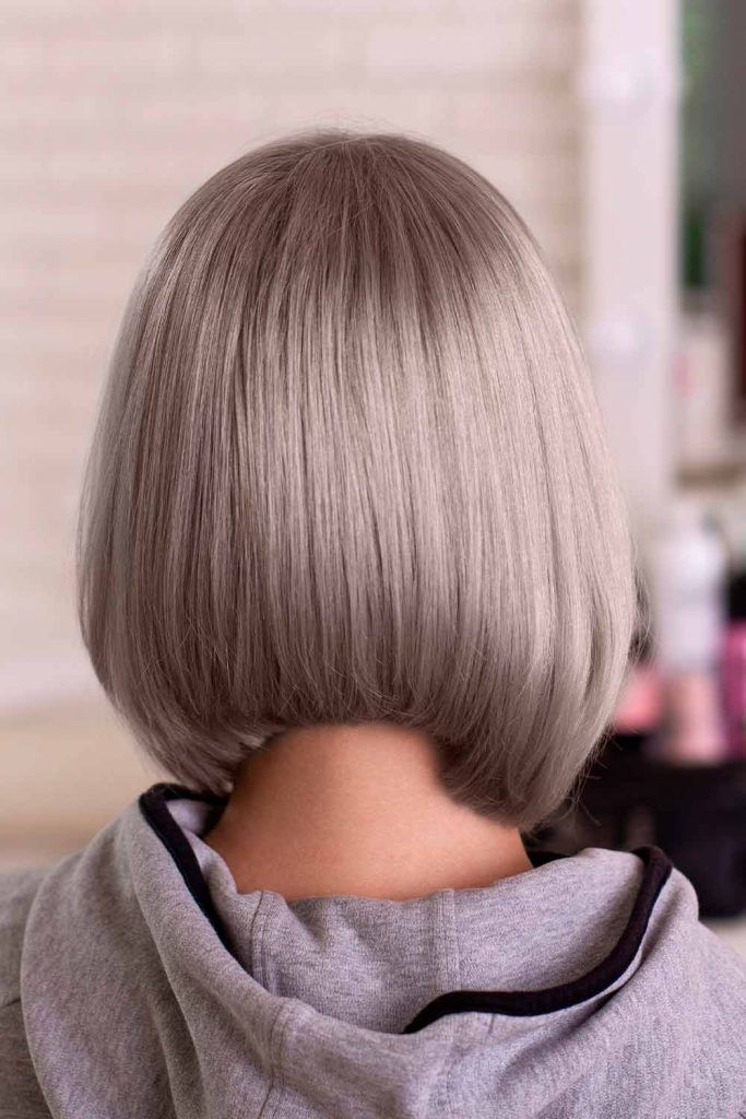 Dirty Silver Tone, silver colored hair, silver short hair, silver bob hair