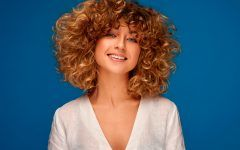 Incredible Curly Bangs and The Fittest Looks of The Season