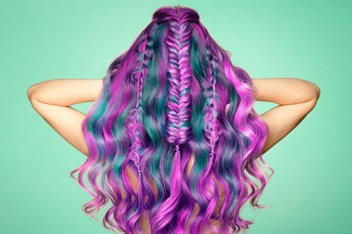 Best Purple And Blue Hair Looks