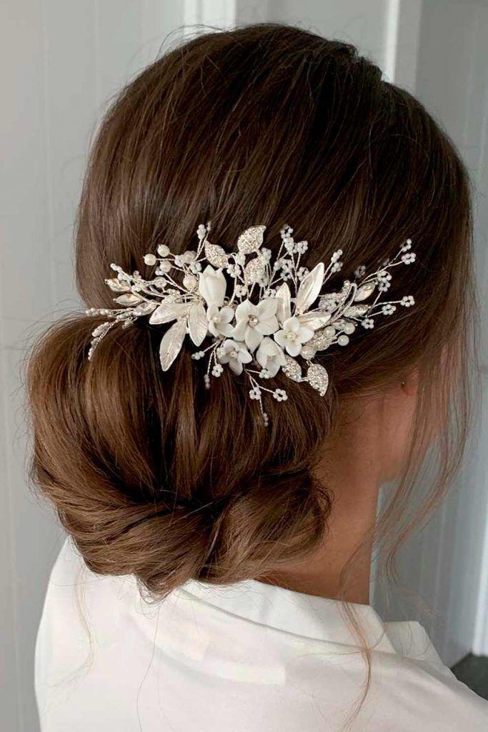 A Gorgeous Wedding Updo For Long Hair, wedding bun updos, wedding hair style updos, updos for wedding bride