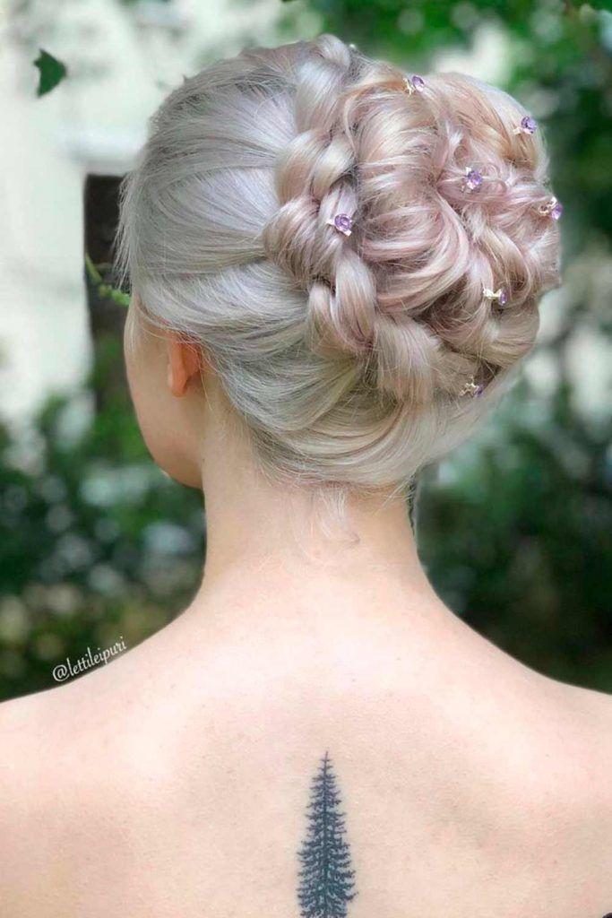 Blonde Updo Hairstyle, wedding bun updos, elegant updos for wedding, hairstyles updos for wedding, updos for wedding bride