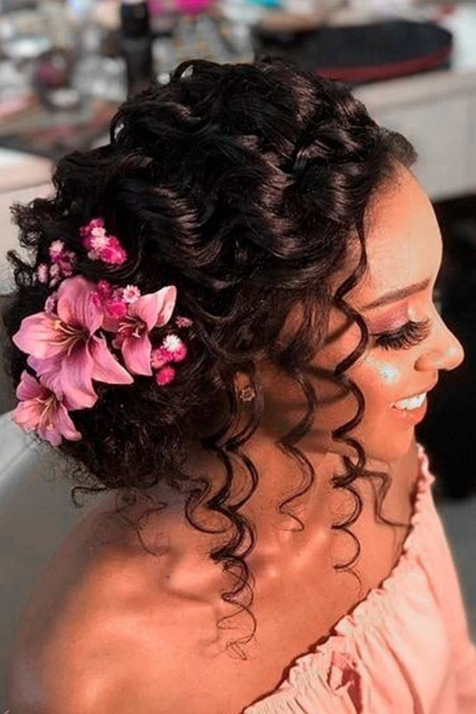 Elegant Updos For Curly Hair, hairstyles updos for wedding, updos for long hair wedding, low updos wedding, elegant updos for wedding
