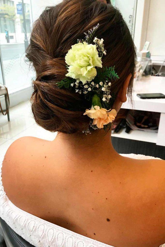 An Accessorized Big Messy Bun, wedding hairstyle updos for long hair, wedding bun updos, hair updos for wedding