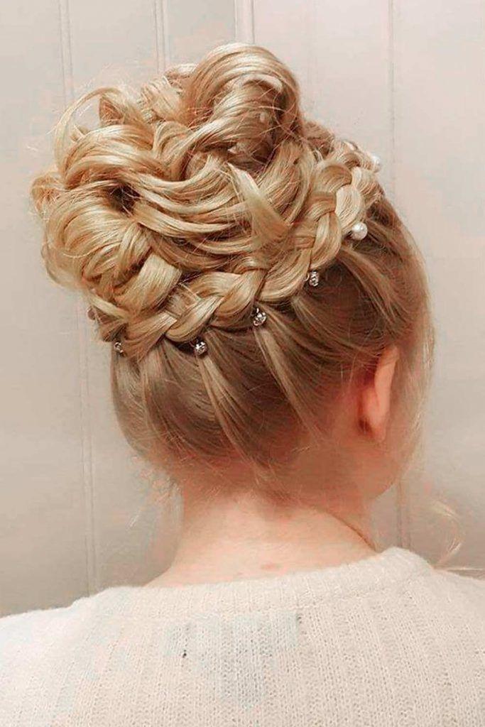 A Charming High Bun, updos wedding, updos for wedding, updos for long hair wedding