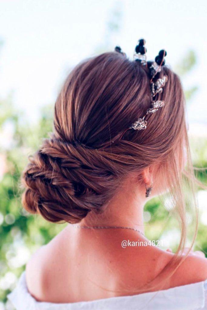 A Voluminous Updo For Long Hair, updos for wedding bride, wedding updos hairstyles for long hair, wedding bun updos