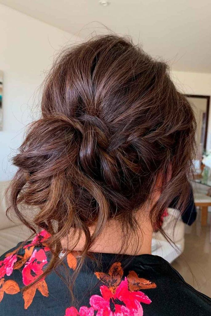 A Voluminous Updo With Braided Elements, wedding bun updos, hair updos for wedding, loose updos wedding