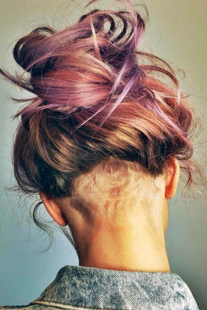 Medium Hairstyles With Undercut Fade, women's undercut with fade, undercut fade women's, fade undercut haircut girl