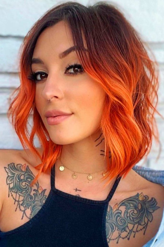 Copper With Orange Hues, red hair with copper highlights, cooper hair color, copper ombre, hair color copper