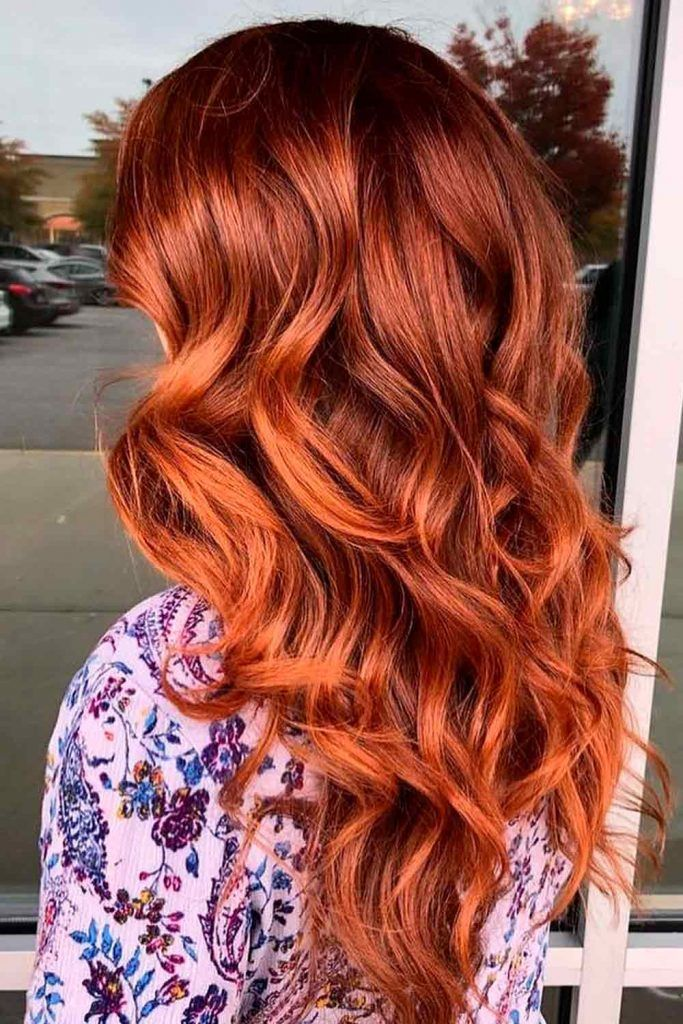 Classic Bright Copper Red Hair with Dark Roots, copper red hair, natural copper red hair, cooper hair color