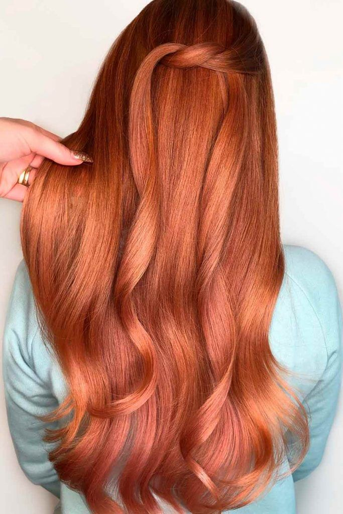 Warm Copper, hair color copper, light copper red hair, copper color hair