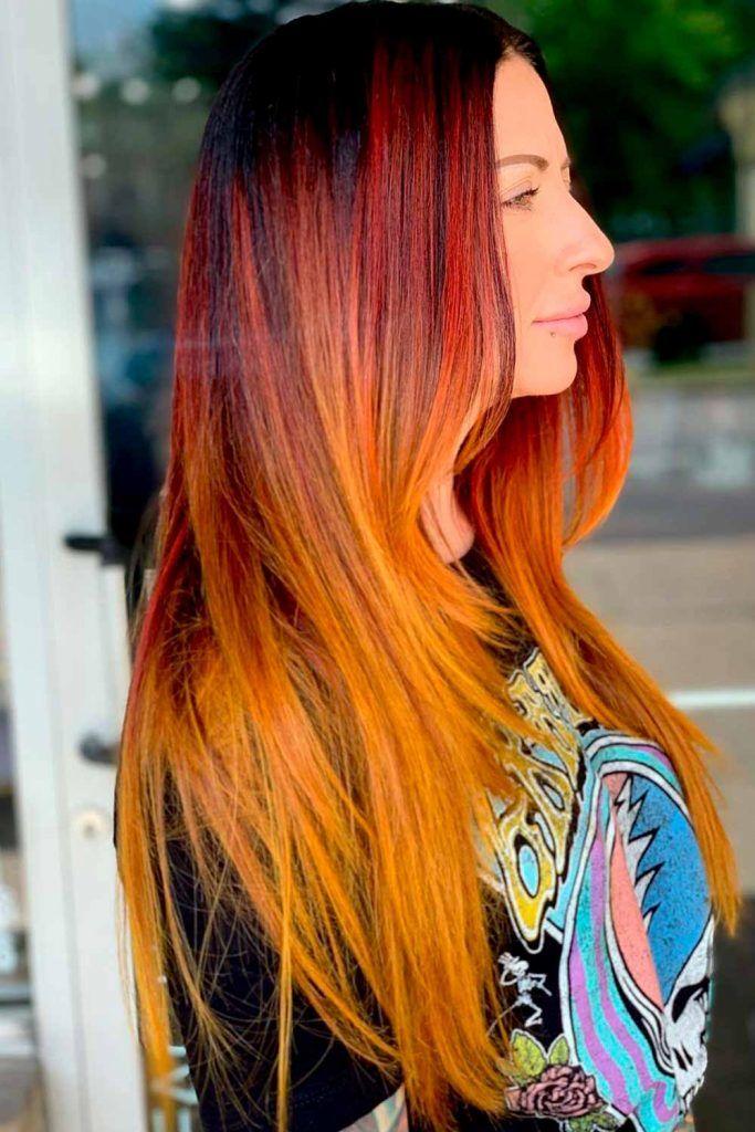 Sunset Bright Copper Hair, copper orange hair, cooper hair color, hair color copper