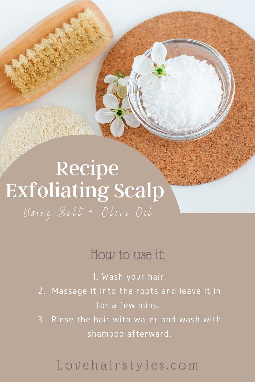 Salt + Olive Oil Recipe To Exfoliate Scalp At Home