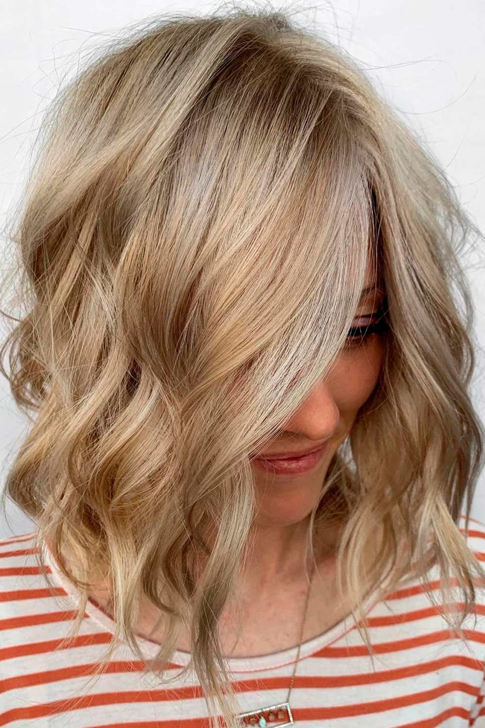Blonde Layered Lob, lob hairstyle, lob hairstyles, what is a lob