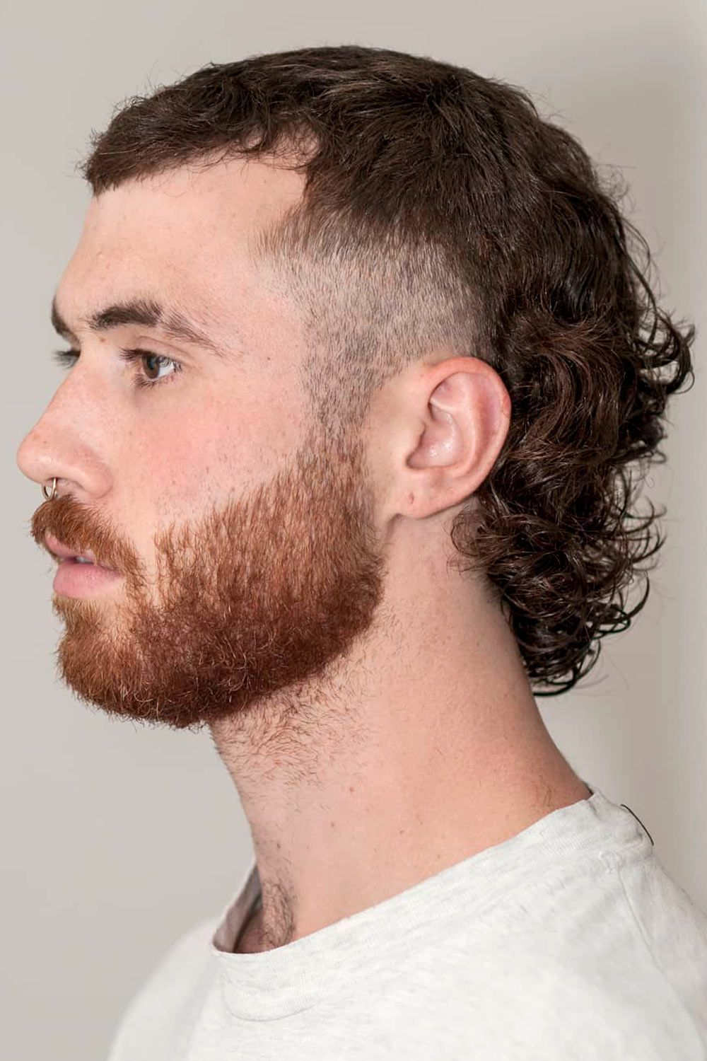 Curly Mullet With Fade