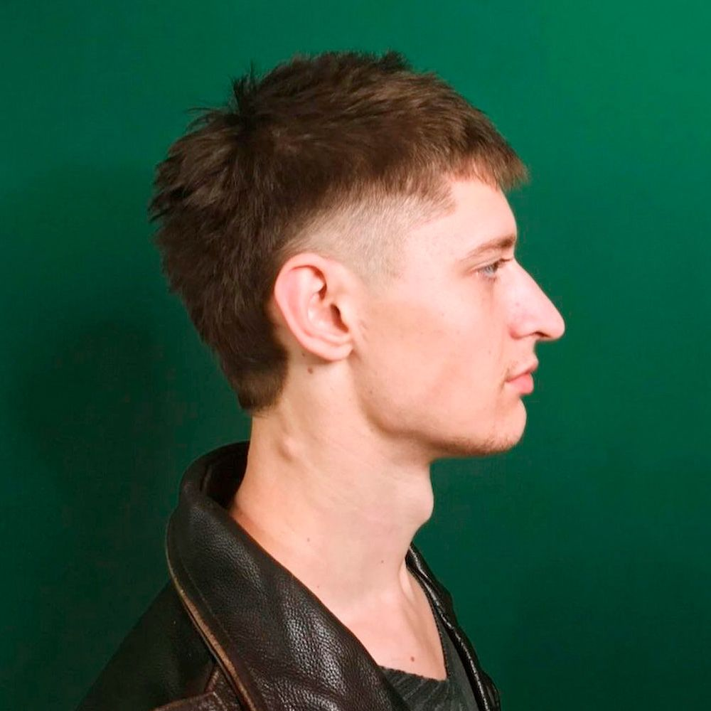 Short&Spiked Mullet Hair