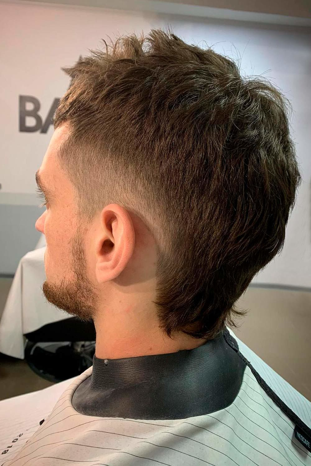 Mullet With Tapered Sides