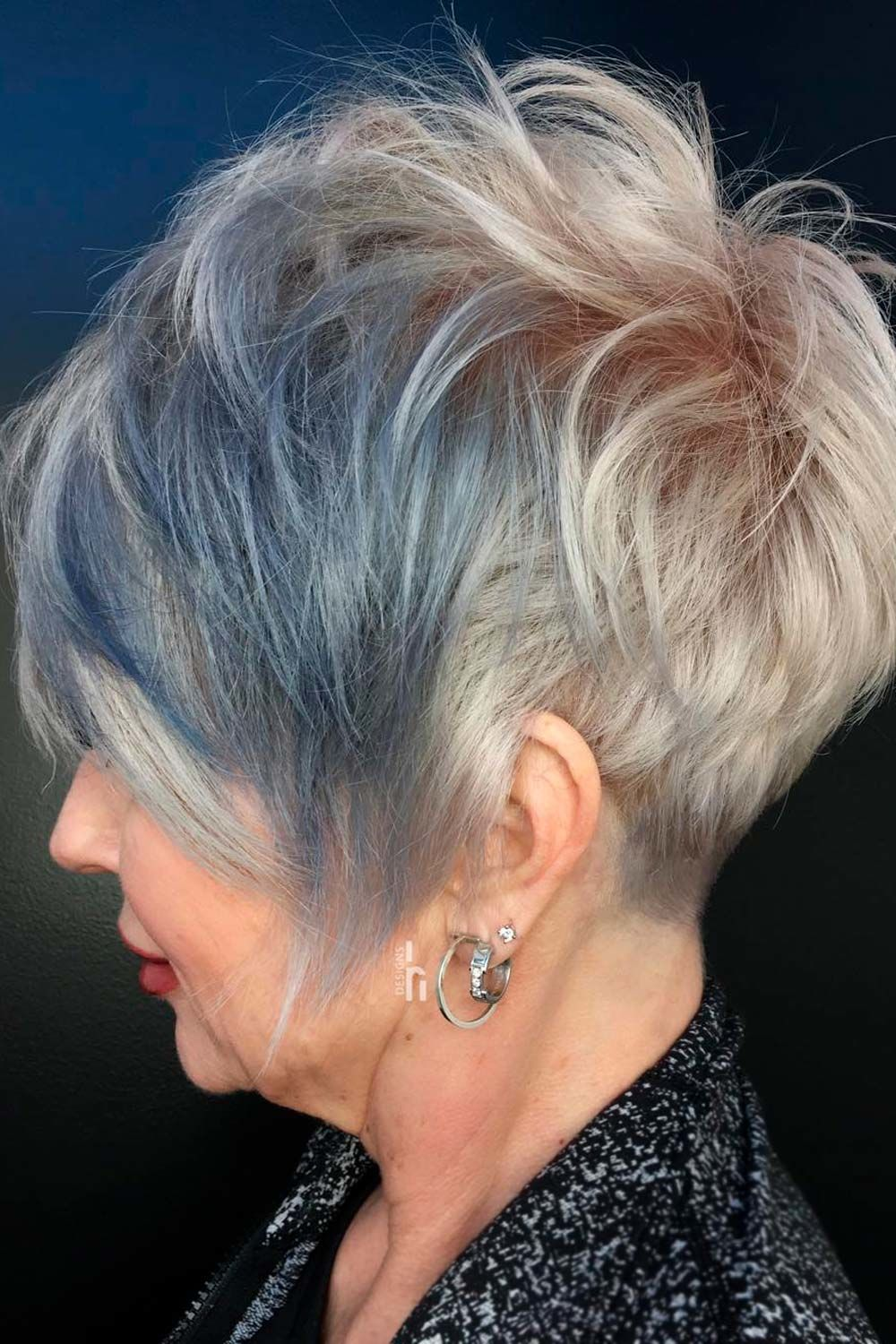 Long Platinum Blonde Pixie, pixie haircuts for fine thin hair over 50, pixie cuts for older ladies with glasses
