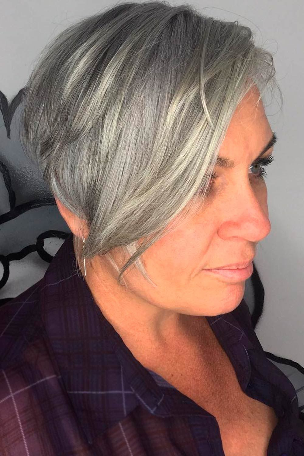 Voluminous Long Pixie, pixie over 50, hairstyles pixie over 50