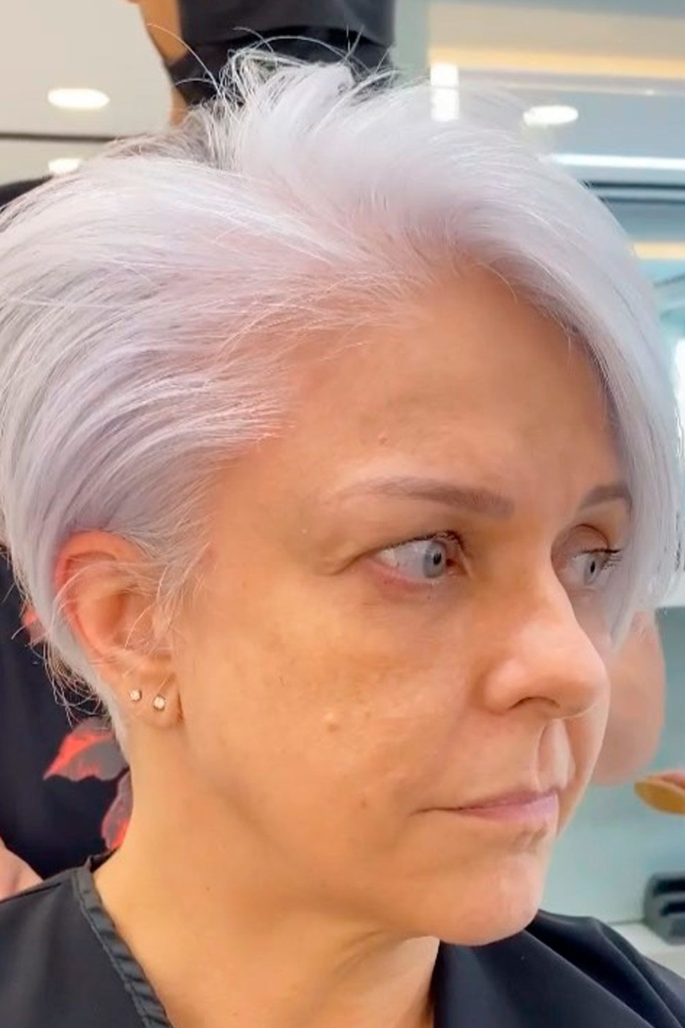 Side Parted Cut, pixie haircut over 50, pixie over 50
