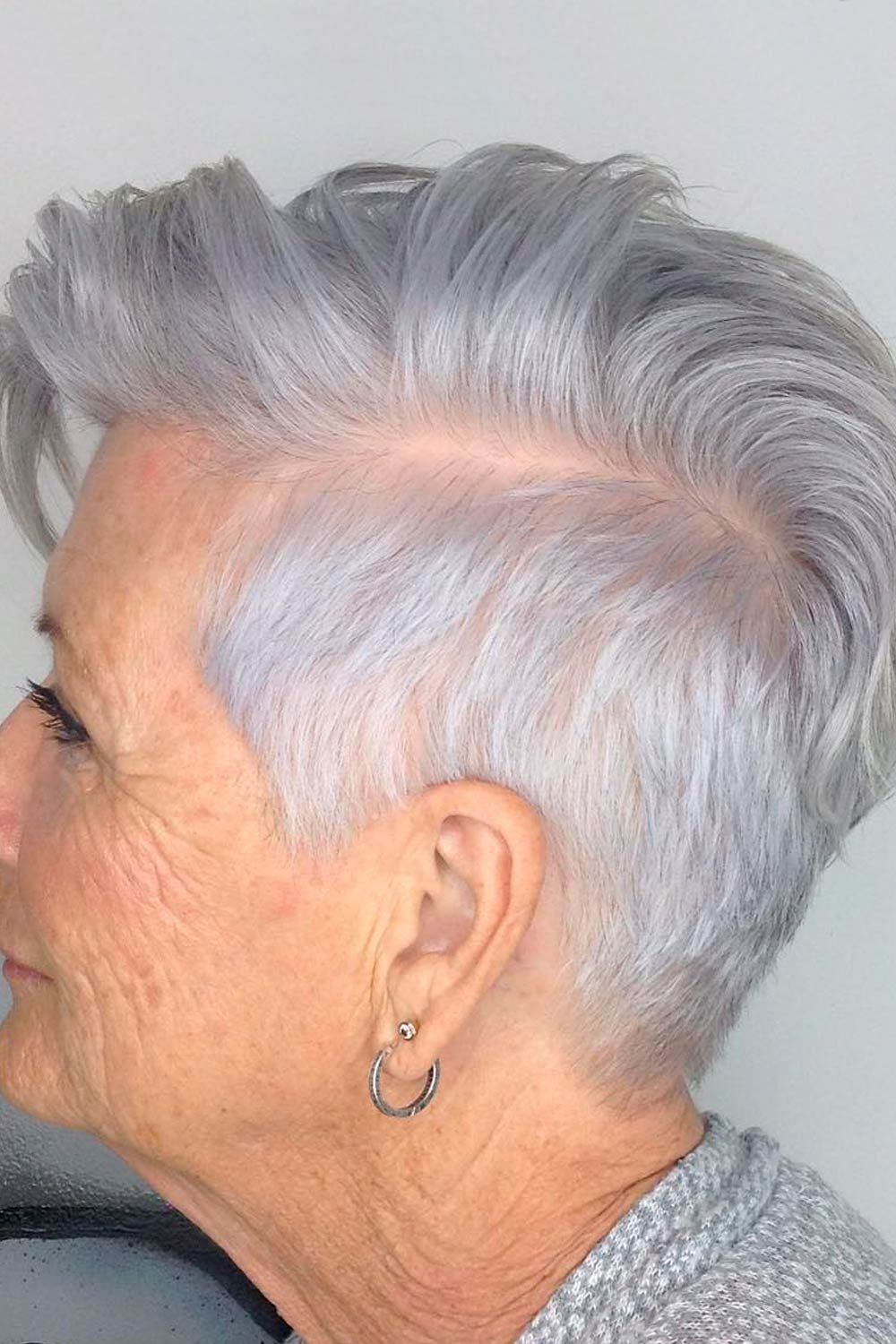 Long Layered Pixie, pixie haircuts for over 50, pixie cuts for round faces over 50
