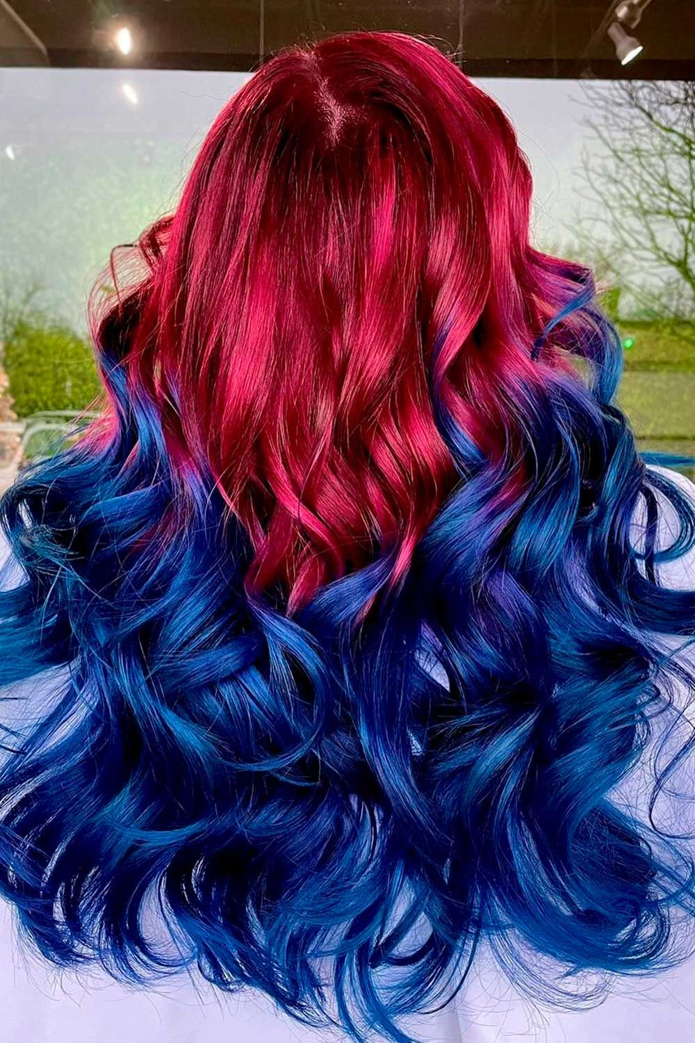 Purple With Dark Blue Ends