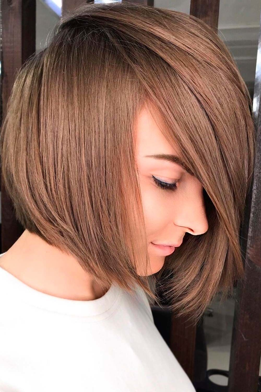 Angled Straight Lob, short haircuts for heart shaped faces, long haircuts for heart shaped faces