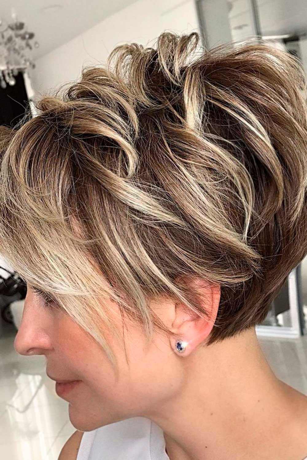 Layered Pixie Hairstyle, heart shaped face haircut, heart shaped face hairstyles