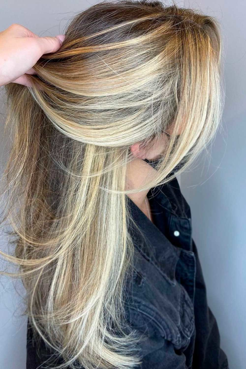 Long Straight Layers, best hairstyle for heart shaped face, heart shaped face haircut
