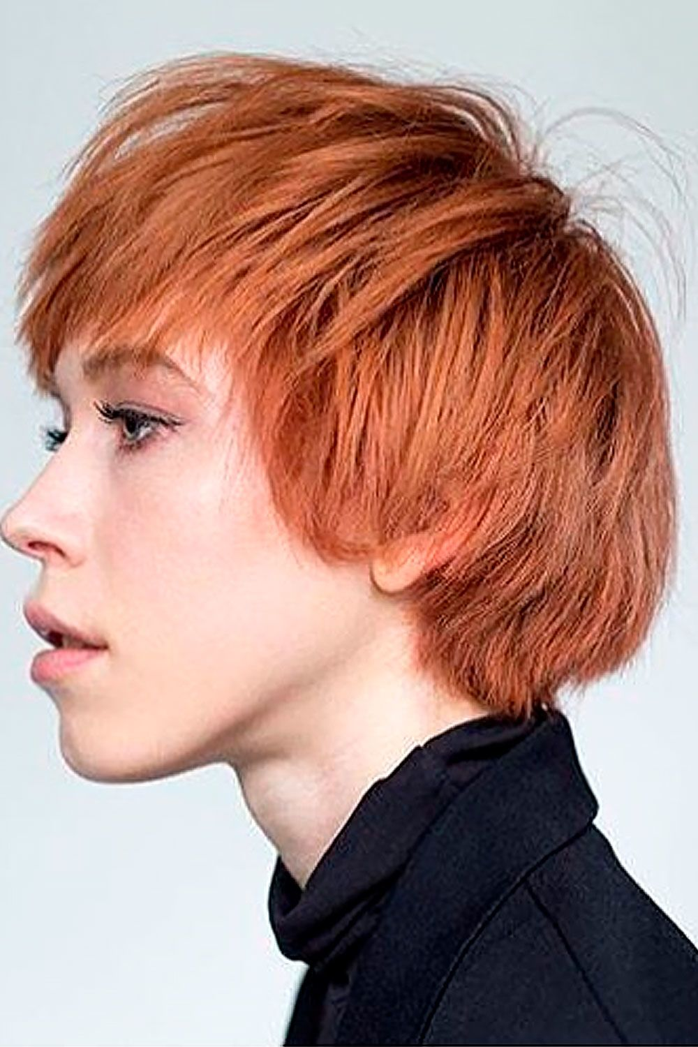 Red Pixie Hairstyles, short edgy hairstyles for women with round faces, short choppy hairstyles for round faces
