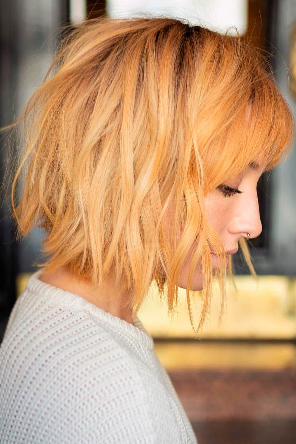Short Hairstyles With Bangs, short curly hairstyles for round faces, short hairstyles for women with round faces