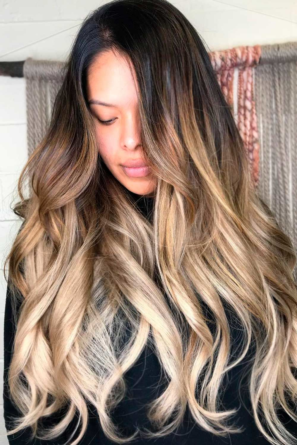 Brunette-To-Ash Blonde Layered Hairstyle