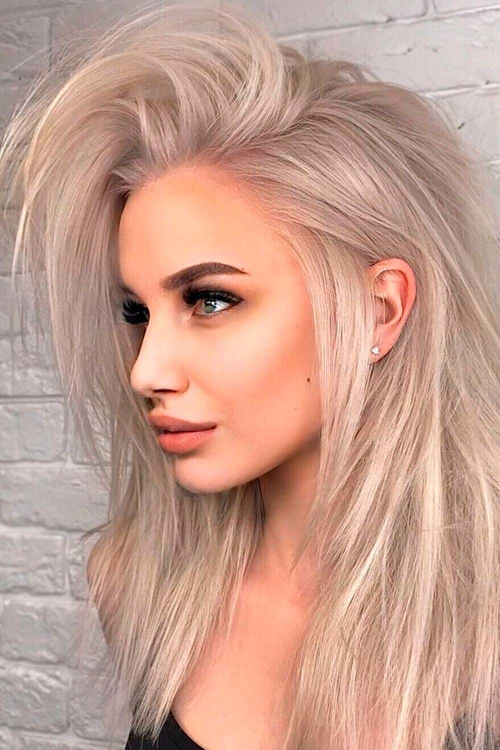 Straight Long Layered Haircuts With Side Part