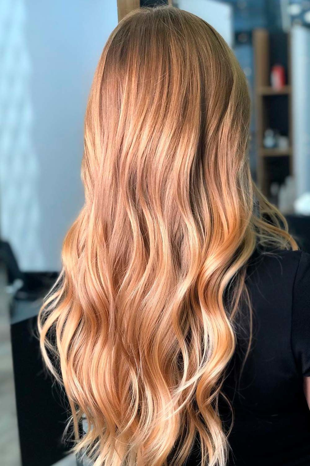 Golden Blonde Hair With Long Layers