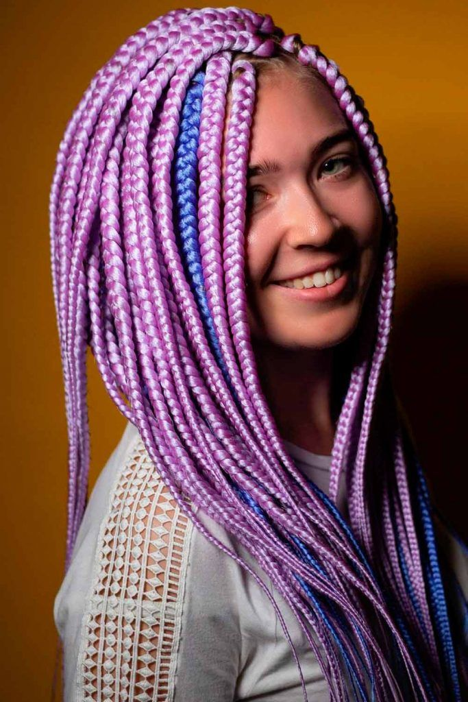 Stylish Options For Girls With Knotless Braids