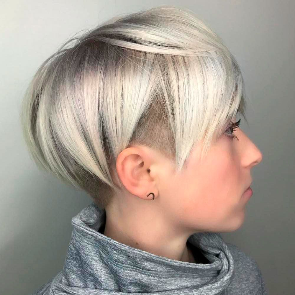 Asymmetrical Short Bob With Undercut