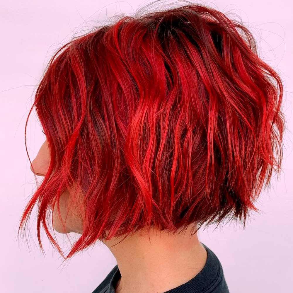 Wavy Wedge, wedge short haircut, curly wedge haircut, wedge bob haircut