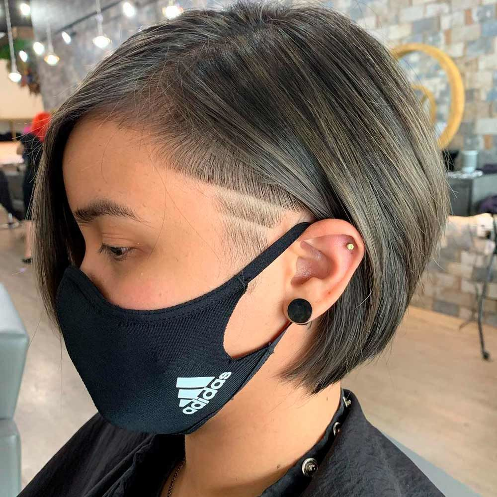 Wedge Haircut With Shaved Sides, wedge haircut for fine hair, inverted wedge haircut, short wedge haircut