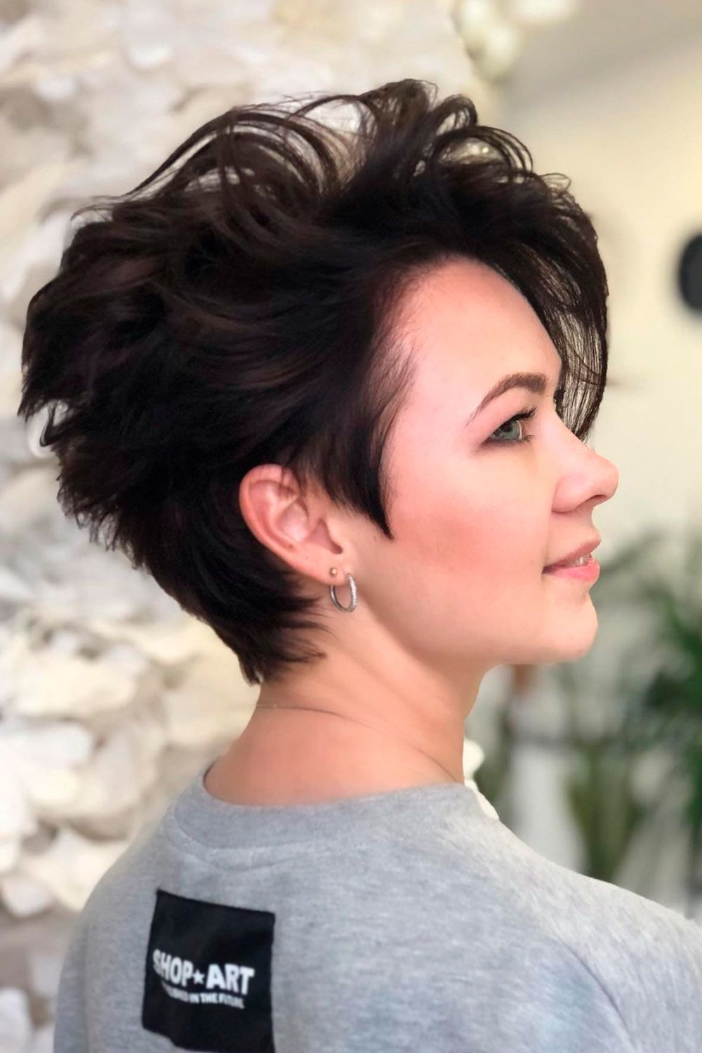 Long Asymmetrical Pixie For Wavy Hair