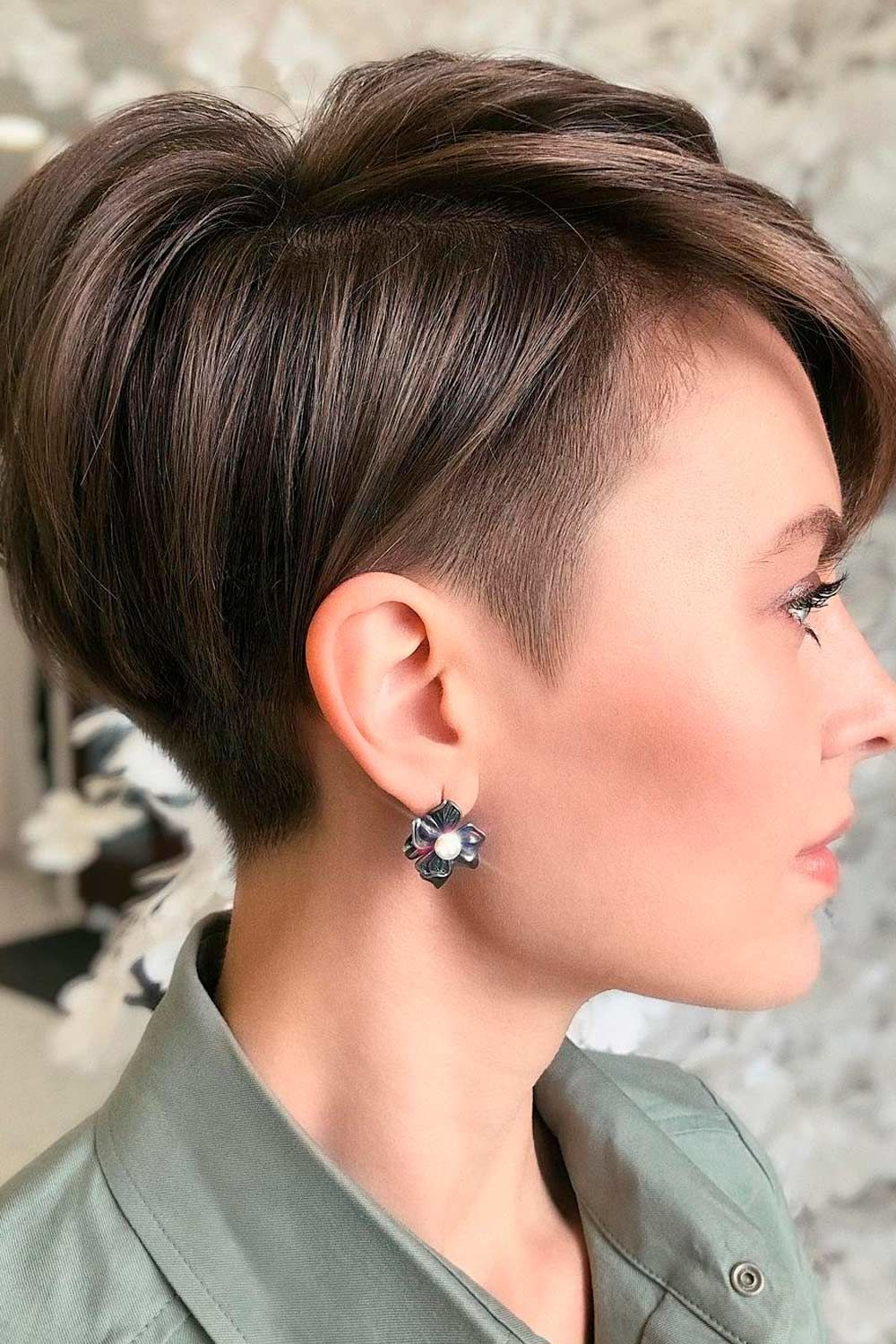 Tapered Coif Haircut With Undercut