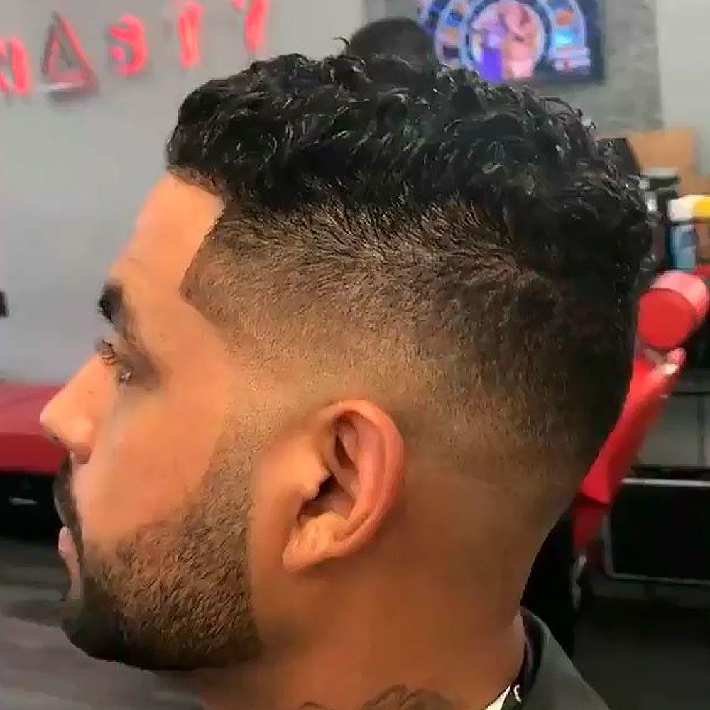 Medium & Wavy Black Men Haircuts