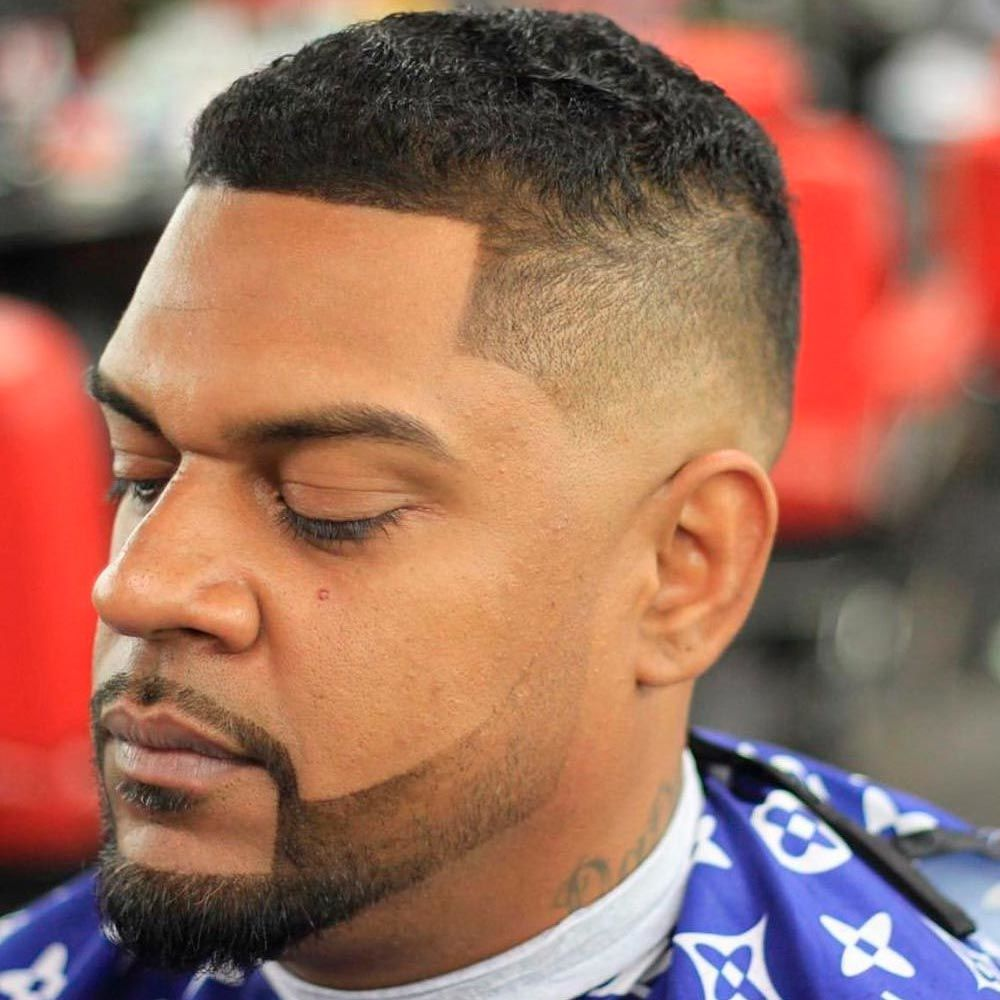 Black Men Haircuts With Short High Fade