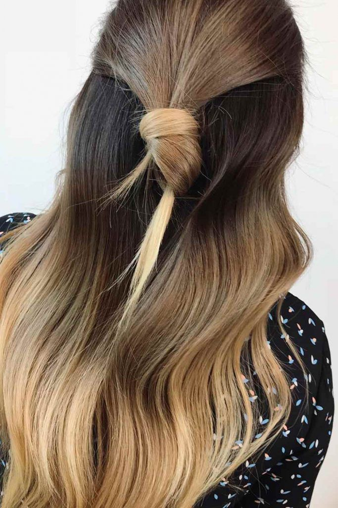 Simple And Gorgeous Half-Up Knot